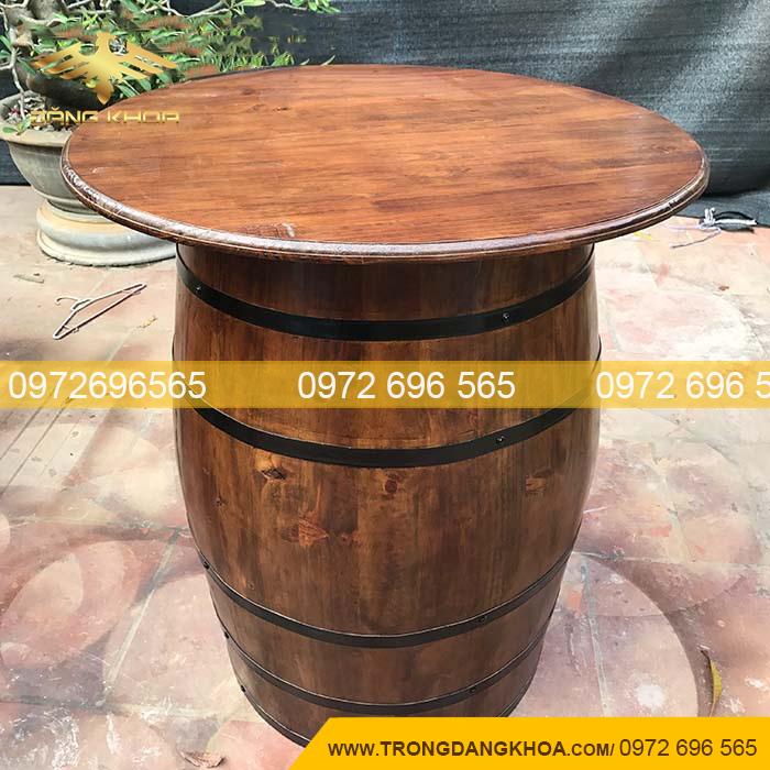 Báo giá bàn ăn nhà hàng làm từ thùng gỗ sồi
