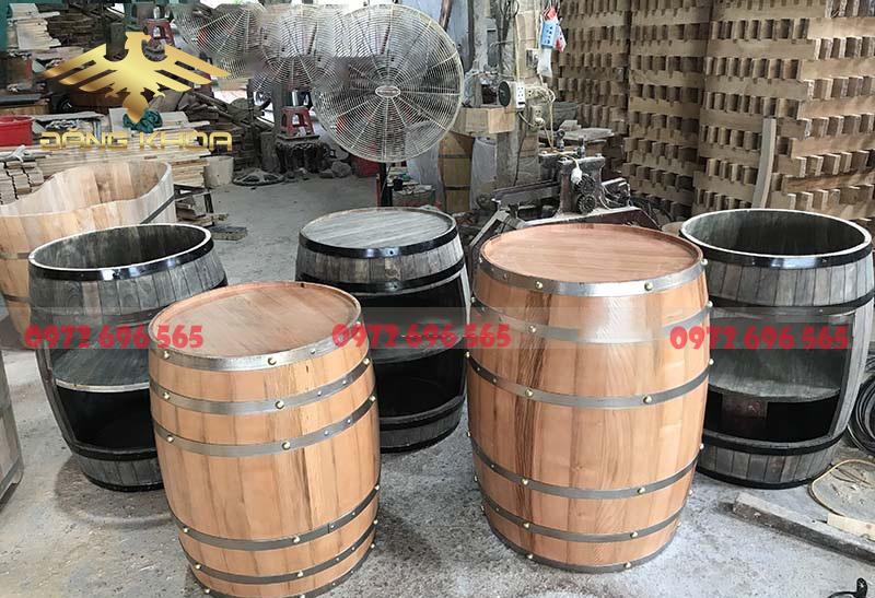 Thùng rượu gỗ thông sản xuất đa dạng nhiều sản phẩm