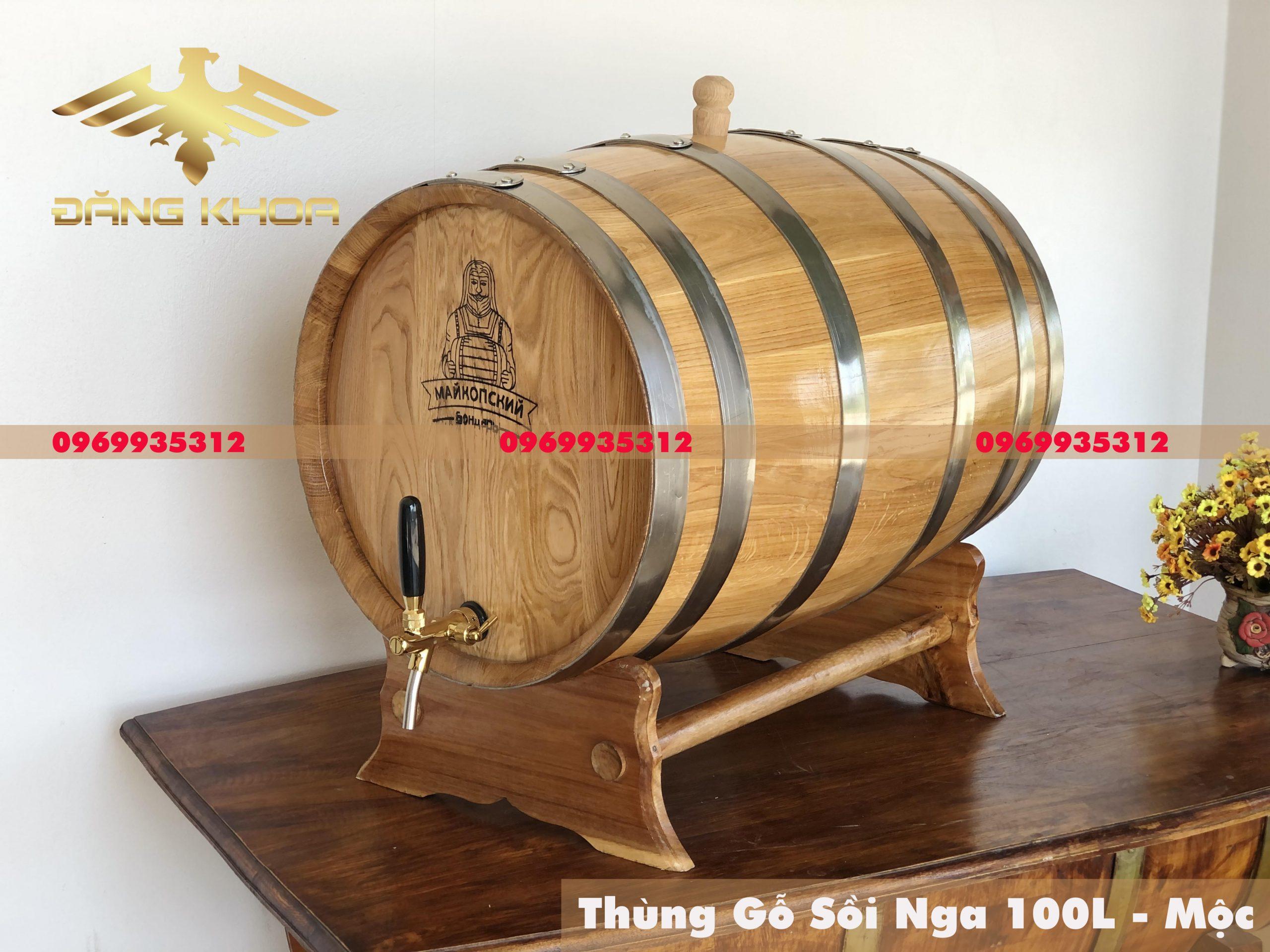 Mua thùng rượu gỗ sồi Nga