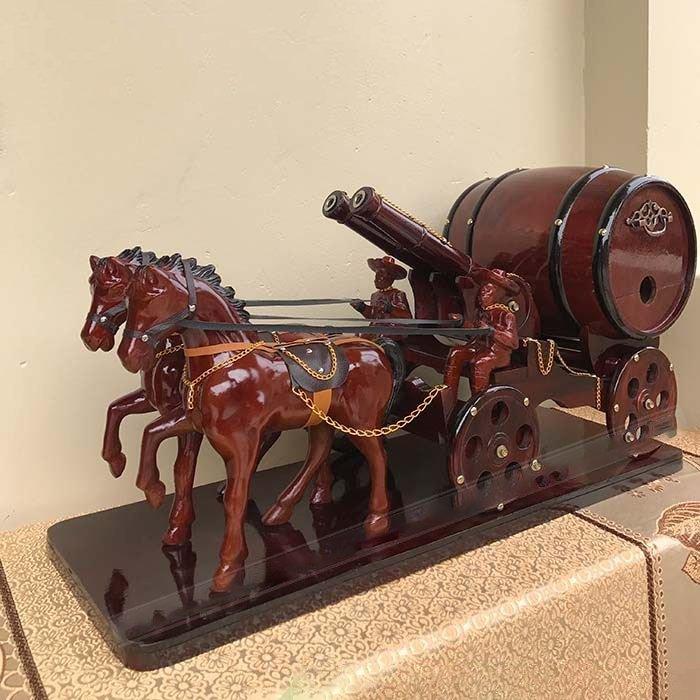 Mua xe ngựa đôi 2 pháo kéo trống rượu vang mới nhất